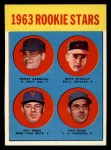 1963 Topps #562   Rookie Stars    -  Ken Rowe / Randy Cardinal / Don Rowe / Dave McNally Front Thumbnail