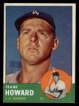 1963 Topps #123   Frank Howard Front Thumbnail
