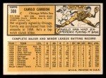 1963 Topps #308   Camilo Carreon Back Thumbnail