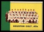 1963 Topps #312   Colt .45s Team Front Thumbnail