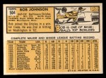 1963 Topps #504  Bob Johnson  Back Thumbnail