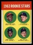 1963 Topps #549  Rookies  -  Marcelino Lopez / Paul Ratliff / Pete Lovrich / Elmo Plaskett Front Thumbnail