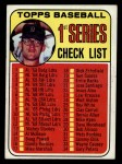 1969 Topps #57 B Checklist 1    -  Denny McLain Front Thumbnail
