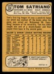 1968 Topps #238   Tom Satriano Back Thumbnail