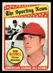 1969 Topps #435  All-Star  -  Sam McDowell Front Thumbnail