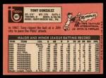 1969 Topps #501 ^YN^ Tony Gonzalez  Back Thumbnail