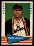 1961 Fleer #102   General Crowder Front Thumbnail