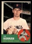 1963 Topps #121 COR  Jim Hannan Front Thumbnail