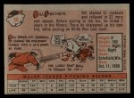 1958 Topps #56  Bill Fischer  Back Thumbnail