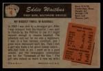1955 Bowman #4   Eddie Waitkus Back Thumbnail