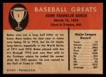 1961 Fleer #6   Home Run Baker Back Thumbnail