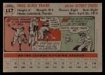 1956 Topps #117   Virgil Trucks Back Thumbnail
