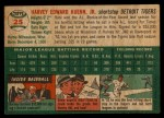 1954 Topps #25   Harvey Kuenn Back Thumbnail