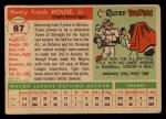 1955 Topps #87  Frank House  Back Thumbnail