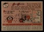 1958 Topps #98 *YN* Billy Hunter  Back Thumbnail
