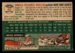 1954 Topps #42  Don Mueller  Back Thumbnail