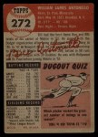 1953 Topps #272  Bill Antonello  Back Thumbnail