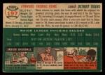 1954 Topps #197  Schoolboy Rowe  Back Thumbnail