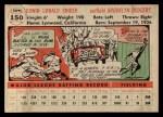 1956 Topps #150   Duke Snider Back Thumbnail
