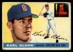1955 Topps #72   Karl Olson Front Thumbnail