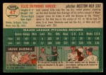 1954 Topps #47   Ellis Kinder Back Thumbnail