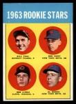 1963 Topps #558   Rookie Stars    -  Ron Hunt / Bill Faul / Al Moran / Bob Lipski Front Thumbnail