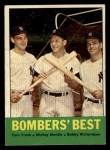 1963 Topps #173   -  Tom Tresh / Mickey Mantle / Bobby Richardson Bomber's Best Front Thumbnail