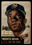 1953 Topps #62   Monte Irvin Front Thumbnail