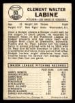 1960 Leaf #60  Clem Labine  Back Thumbnail