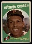 1959 Topps #390   Orlando Cepeda Front Thumbnail
