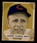 1949 Bowman #128   Johnny Vander Meer Front Thumbnail