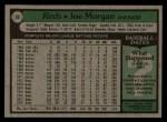 1979 Topps #20   Joe Morgan Back Thumbnail