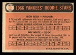 1966 Topps #234  Yankees Rookies  -  Roy White / Rich Beck Back Thumbnail