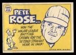 1970 Topps #458  All-Star  -  Pete Rose Back Thumbnail