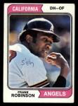 1974 Topps #55   Frank Robinson Front Thumbnail