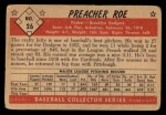 1953 Bowman Black and White #26  Preacher Roe  Back Thumbnail
