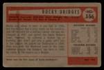 1954 Bowman #156 ALL  Rocky Bridges Back Thumbnail