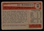 1954 Bowman #97  Gil McDougald  Back Thumbnail