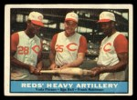 1961 Topps #25   -  Vada Pinson / Gus Bell / Frank Robinson Reds Heavy Artillery Front Thumbnail