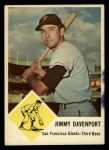 1963 Fleer #65  Jim Davenport  Front Thumbnail