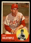 1963 Topps #192  Clay Dalrymple  Front Thumbnail