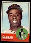 1963 Topps #387 ERR  Al McBean Front Thumbnail