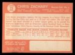 1964 Topps #23  Chris Zachary  Back Thumbnail