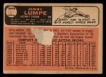 1966 Topps #161 COR Jerry Lumpe  Back Thumbnail