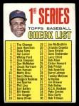 1967 Topps #62 B Checklist 1  -  Frank Robinson Front Thumbnail