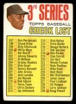 1967 Topps #191 COR Checklist 3  -  Willie Mays Front Thumbnail