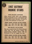 1967 Topps #51  Astros Rookies  -  Dave Adlesh / Wes Bales Back Thumbnail
