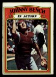 1972 Topps #434  In Action  -  Johnny Bench Front Thumbnail