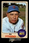 1968 Topps #27 COR  Gil Hodges Front Thumbnail