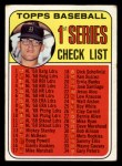 1969 Topps #57 A  -  Denny McLain Checklist 1 Front Thumbnail